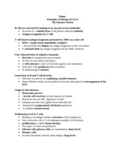 Notes Principles of Biology  Immune System 5