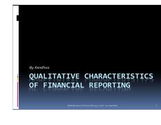 L2 - Qualitative Characteristics of Financial Reporting