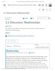 2.1 Discussion_ Relationships - BBAO179 Business Statistics (ADM-320-01A, ADM-320-01A).pdf