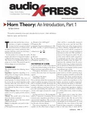 Horn Theory_An Introduction, Part 1.pdf