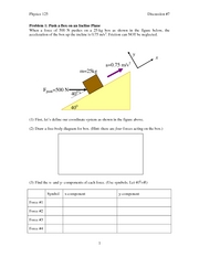 Application of Newton's Laws
