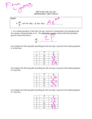 Calculus Section 2.5 Worksheet