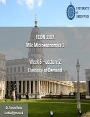Econ1152 - Week 5 - Lecture 2 - Elasticity of Demand.pdf