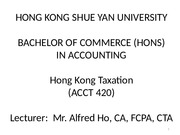 Lecture 1 - Introduction To  General HK Taxation (2015)