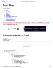 1L Contracts Outline for Law School _ Legal Three