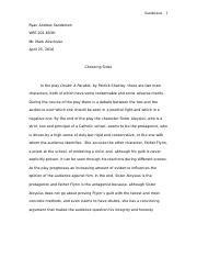 Essay One