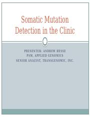 Somatic Mutation Detection Hesse