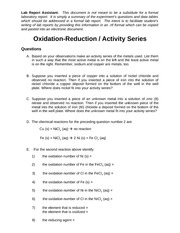 CK-2_Oxidation-Reduction_Activity_Series_RPT