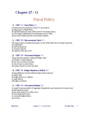 FISCAL POLICY 2