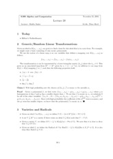 Algebra and Strategic Computation lect20