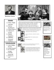 Abraham Lincoln's Facenovel Page.docx