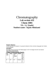 Chromatography labreport
