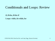 ConditionalsAndLoops