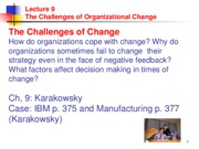 Lecture 10 Learning & Change