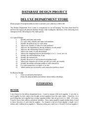 DELUXE department store design project .doc