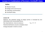L11 Connection of Resistors Kirchhoff Rules