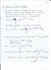 solution by fourier transform
