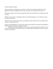 Common app essay prompt