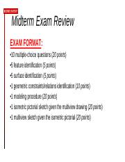 Midterm Exam Preparation Overview