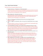 Essay 2 Topic Selection Worksheet