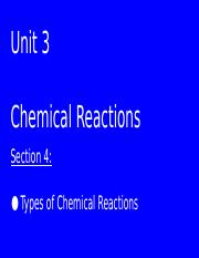Chemical Reactions sec. 4