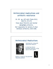 Unit 5 Antimicrobial Medications