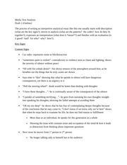 Media Text Outline - Essay