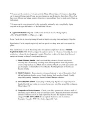 Volcano Hazards Notes