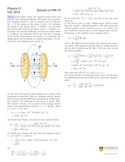 PHYSICS 21 Fall 2014 Homework 19 Solutions