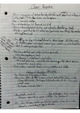 Class Notes - Chinese Perspective