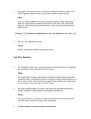 Economic Development and the Americas Ch. 9 Complete Study Guide