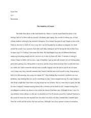 The simplicity of Nature Essay