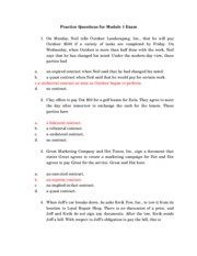 Module 1 Sample Questions With Answers (2010)