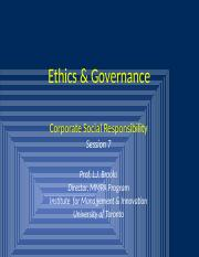 Ethics & Governance  Session 7 - Corporate Social Responsibility.pptx