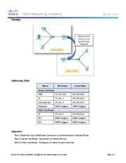 10.4.1.3 Packet Tracer Multiuser - Implement Services Instructions