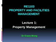 RE1103 Lecture 1