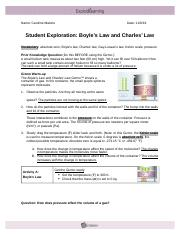 Student Exploration Gizmo- Boyle\u2019s Law and Charles ...