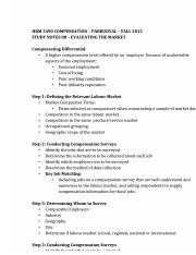 STUDY NOTES 08 Evaluating the Market