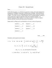 Exam 2 Solutions 2013