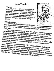 Trotsky and Lenin notes
