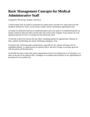 W3_Assignment_Basic_Management_Concepts_for_Medical_Administrative_Stafft
