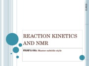 REACTION KINETICS AND NMR