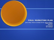 MKT421 Week 5 Team Marketing Plan Final