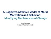 Cognitiveaffective model of moral motivation and behavior