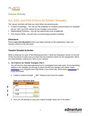 AA SAS and SSS Criteria for Similar Triangles_CA (Autosaved).docx