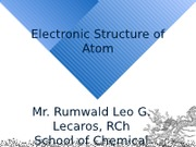 (L3) Electronic Structure of Atom