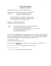 How to do Hardy-Weinberg Equations