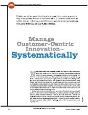 Manage Customer-Centric Innovation Systematically (HBR 200604).pdf