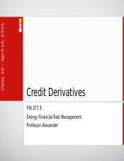 Lecture 17 - Credit Derivatives.pptx
