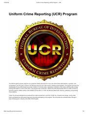 Uniform Crime Reporting (UCR) Program — FBI pdf - Uniform